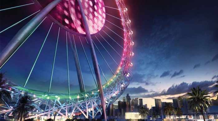 Wheely big: The world's largest Ferris wheel takes shape in Dubai