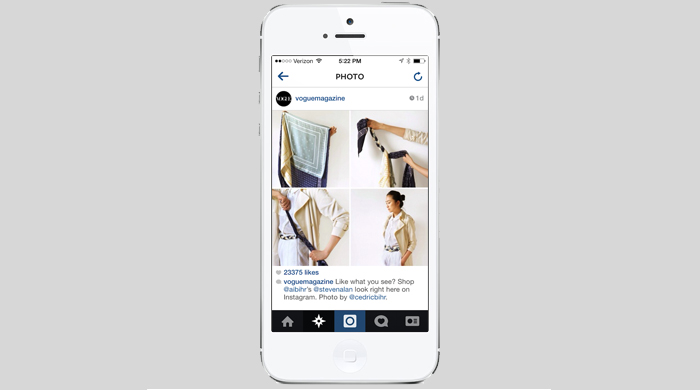 Vogue's Instagram feed is now shoppable