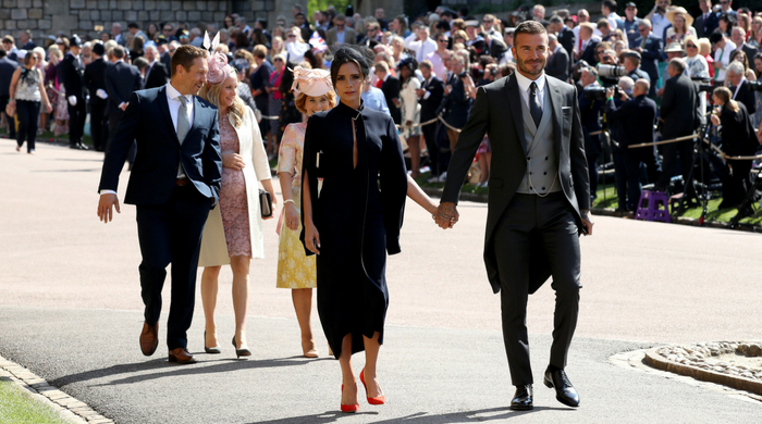 Here's how you can own Victoria and David Beckham's outfits from the royal wedding