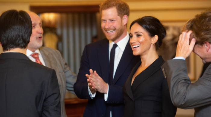 The Duke and Duchess of Sussex attend a special performance of Hamilton