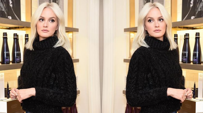 Leighton Meester goes full Jenny Humphrey with new platinum blonde 'do