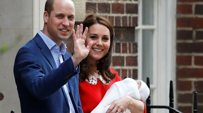 The Duke and Duchess of Cambridge release first official photos of Prince Louis