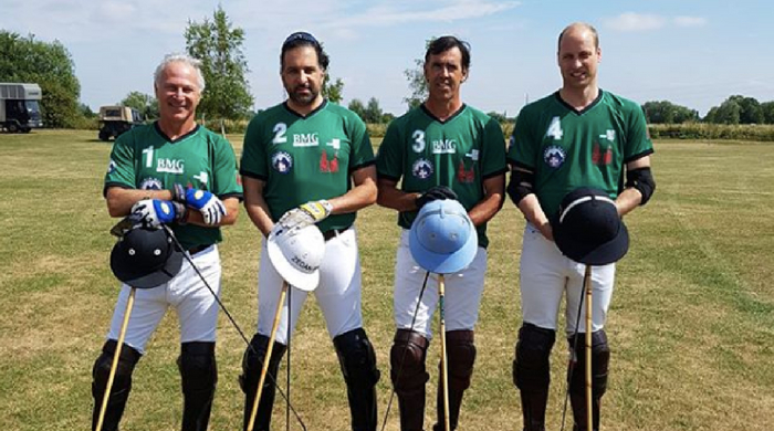 Prince William wears design by Hatem Alakeel during latest polo match