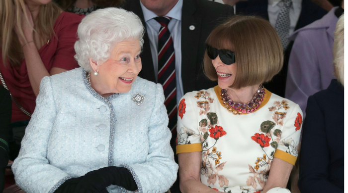 Queen Elizabeth makes her first appearance at London Fashion Week