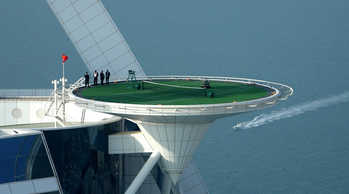 The Burj Al Arab is given the first helipad license in the UAE