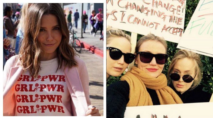 The best celebrity Instagrams from the 2018 Women's March