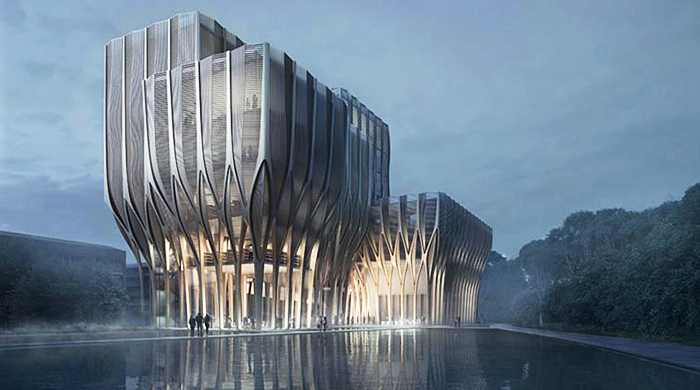 Zaha Hadid has created designs for a new Cambodian institution