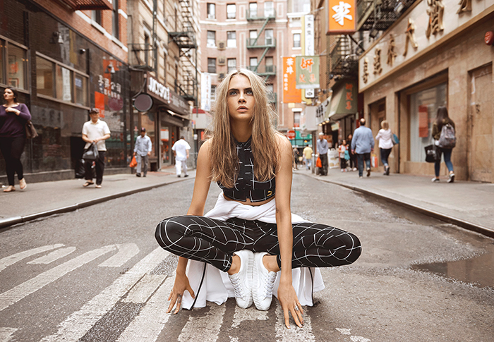 Puma x Cara Delevingne: Unapologetic athletic attitude