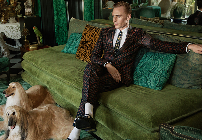 Tom Hiddleston fronts the new Gucci Tailoring campaign