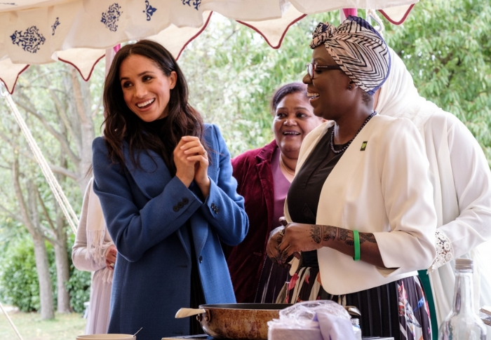 The Duchess of Sussex is joined by her mother for the launch of her first solo royal project
